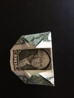 How to fold a $1 dollar bill - B+C Guides Fold Dollar Bill, Dollar Bill Origami, Money Origami, Three Fold, Thing 1, One Dollar, Triangle, Projects To Try, Crafts