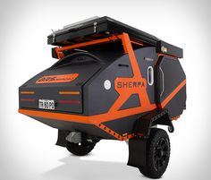 BRS' Badass Offroad Sherpa Is The Most Ruggedized Camper Trailer Ever Built Small Travel Trailers, Small Trailer, Trailer Build, Small Camping Trailer, Expedition Trailer, Overland Trailer, Expedition Vehicle, Off Road Camper Trailer, Camper Trailers