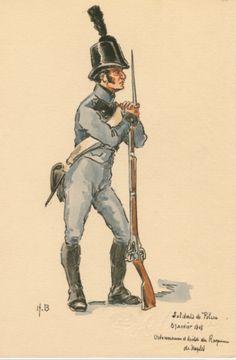 SOLDIERS- Boisselier: Soldats de Police... 1808, by H. Boisselier.