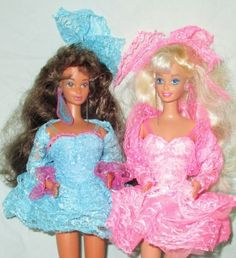 1990-Teresa-Barbie-Dolls-Lights-Lace-Dolls-Dressed-Played-With-No-Orig-Boxes