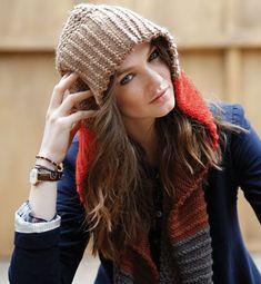 Modèle écharpe capuche femme