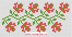 Decorative border, free cross stitch patterns and charts - www.free-cross-stitch.rucniprace.cz