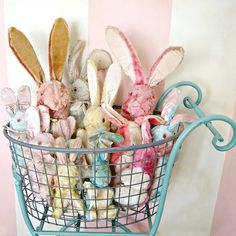 vintage pastel bunny rabbit collection / Everyday is a Holiday blog