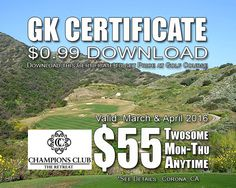 GK Certificate Champions Club at the Retreat Golf Tee Time Special
