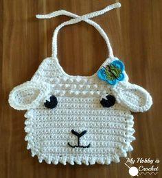 Little Lamb Crochet Bib