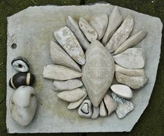 Jos van Wunnik's stone collection.