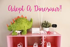 Ryleigh's birthday party was last month. There has been so much going on in our house and I've been trying to organize everything with Girl Scouts that I didn't have an opportunity to post this yet! I figured I had to get it in before Christmas and New Year's. She has a undeniable love for Dinosaurs and when I asked what kind of party she wanted she specifically called for PINK Dinosaurs! We had custom printables designed by myself, a Dino Adoption, and a smoking lava cake! See more de...
