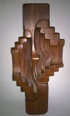 BRIAN WILLSHER (1930-2010) London. Modernist Wooden Sculpture Abstract. Mid Century Modern Art
