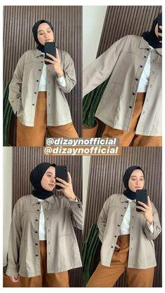Hijab Fashion Summer, Modern Hijab Fashion, Street Hijab Fashion, Muslim Fashion, Casual Hijab Outfit, Casual Outfits, Fashion Outfits, Big Size Fashion, Shops