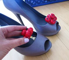 How to DIY Cherry Shoe Clips