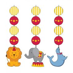 Circus Time! Hanging Cutouts (18/case)