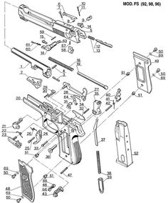 glock diagram gunsmithing guns firearms glock 22 Diagram of Smith and Wesson M P-40 beretta exploded parts view