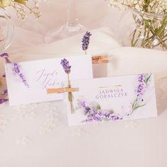 WIZYTÓWKA personalizowana Kolekcja Lawenda Place Cards, Place Card Holders
