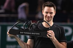 Robin Soderling defeated Gael Monfis at the BNP Paribas Masters in Paris Nov. 2010