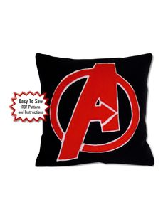 Marvel Avengers Pillow PDF Pattern by PatternsOfWhimsy on Etsy