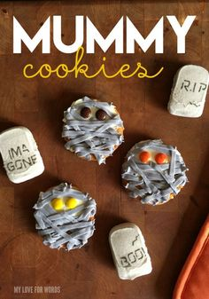 Bake up the cutest and spookiest Halloween treat this fall with these adorable mummy cookies!   #halloweendecorideas #halloweentreats #halloweencrafts #halloweendecorations #halloweenparty #trickortreat #halloweenfood