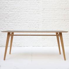 Angle Table Oak Top Black Lino- Unto This Last
