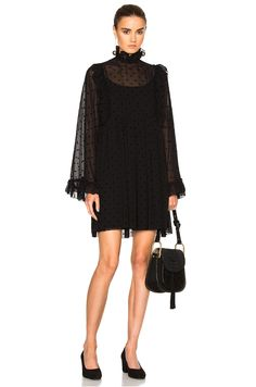 Image 1 of See By Chloe Mini Dress in Black