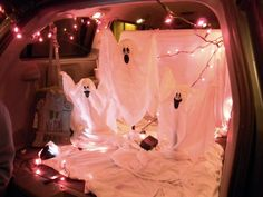 Exterior Trunk Or Treat Decorating Ideas For Church With Stunning Lighting And Halloween Furniture Steps For Trunk Or Treat Decorating Ideas For Church