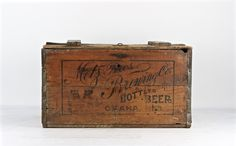 Vintage Beer Crate, Metz Bros. Brewing Co. Omaha NE, Vintage Beer Crate, Metz Beer, Old Beer Crate, 1920's Beer Crate, XXL Beer Crate by HuntandFound on Etsy