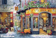 Dimensions Shop. Набор для вышивания Dimensions 35224 European Bistro (Европейское бистро)