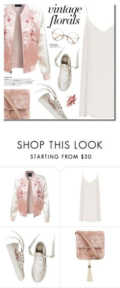 """""""Smell the Roses: Vintage Florals"""" by fashion-bea-16 ❤ liked on Polyvore featuring LE3NO, Raey, Brother Vellies, vintage, polyvoreeditorial and VintageFlowers"""