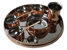 1000 images about copper and brass kitchen ware on for Kitchen set in hindi