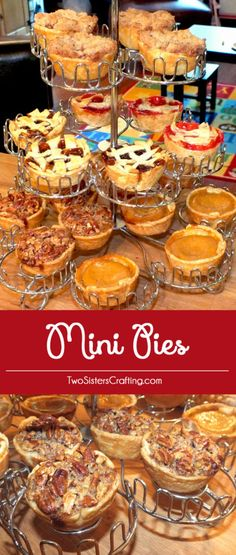 Mini Pies for Thanksgiving are a great alternative for your friends and family who can t decide which kind of pie to have for their Thanksgiving Dessert. They are small enough that you can eat a couple of them! us for more great Thanksgiving Food ideas. Mini Desserts, Delicious Desserts, Yummy Food, French Desserts, Party Desserts, Wedding Desserts, Keto Desserts, Frozen Desserts, Plated Desserts
