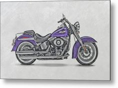 Harley Motorcycles Metal Print featuring the photograph…