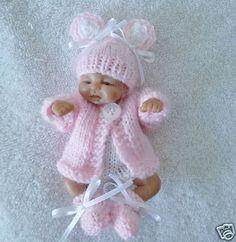 Knitting Patterns For Dollhouse Dolls : Preemie Knitting & Crochet on Pinterest Angel Gowns, Knitted Dolls