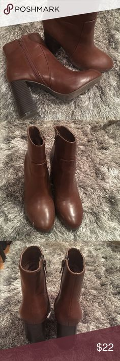 Forever 21 Dark Brown Booties Only worn once! Forever21 brown booties Forever 21 Shoes Heeled Boots