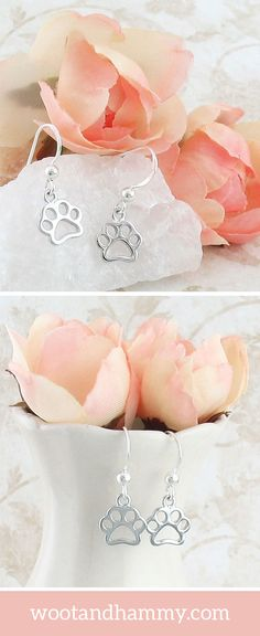 Whether you're a dog or cat lover, your favorite furry friend will always be on your mind with these adorable paw print earrings in sterling silver.