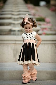 Pink Triple Ruffle (minus the Legging) - Persnickety Clothing Pink Leggings, Little Girl Fashion, Toddler Fashion, Kids Fashion, Persnickety Clothing, Kid Styles, My Baby Girl, Kind Mode, Little Girls