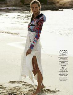 Sea, Sun & Swim: Marlijn Hoek By Thiemo Sander For Madame Figaro 18th July 2014