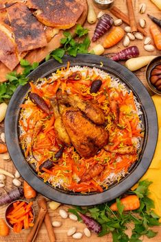 Havij Polo is another colourful Persian rice dish, jewelled with finely chopped, sweet carrots and caramelised orange peel. Small Chicken, Chicken Legs, Persian Rice, Sweet Carrot, Egyptian Food, Middle Eastern Recipes, Arabic Food, Rice Dishes, Rice Recipes