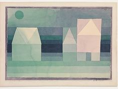 Who needs inspirational quotes when you have Paul Klee? Three Houses 1922 #mondaymotivation #art