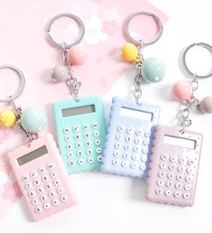 This mini electronic calculator is not only functional but also incredibly sweet. Attach it to your pencil case, planner or bag and make it a cute everyday accessory.
