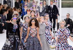The finale at Chanel's spring 2016 show. Photo: Imaxtree