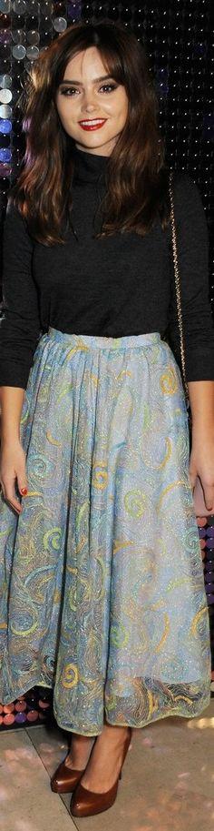 Jenna Louise Coleman - love her fashion sense!