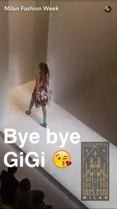 Gigi walking for Fendi at Milan Fashion Week - Live on Snapchat Milan Fashion Week