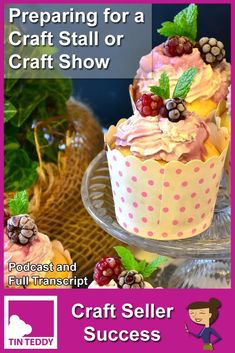 Lots of hints and tips to help you prepare for a craft stall, show or other craft selling event. Listen to the podcast or read the full transcript. Craft Stall Display, Display Ideas, Craft Stalls, Craft Organization, Success, Tips, Crafts, Food, Meal