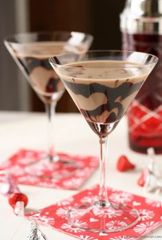 chocolate martinis.