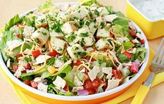 Shocking Salad Makeover! (Applebee's Recipe Swap). Chicken Fiesta Salad