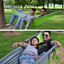 Zhuimenglong 2017 Double Person Indoor Outdoor Camping Portable Hammock Hanging Swing Sleeping Bed Parachute Cloth Nylon H148(China)