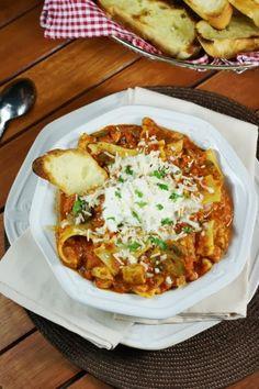 The Kitchen is My Playground: Chicken Lasagna Stew