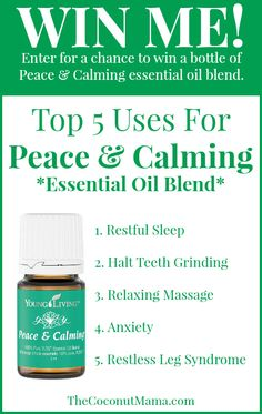 Giveaway: Peace & Calming Essential Oil Blend   The Coconut Mama