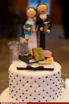 Bookish cake topper.