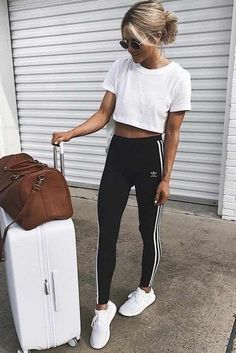 Adidas Pants Outfit Pictures 36 adidas pants outfit ideas super combo of comfort and Adidas Pants Outfit. Here is Adidas Pants Outfit Pictures for you. Adidas Pants Outfit baddie outfits with adidas pants on stylevore. Adidas Pants Out. Trendy Outfits, Fall Outfits, Sporty Summer Outfits, Summer Leggings Outfits, Cute Pants Outfits, Summer Pants, Soccer Pants Outfit, Outfit Ideas With Leggings, Teen Fashion