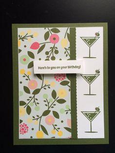 Retro!   Stampin up Happy Hour
