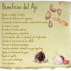 Beneficios del #ajo #Nutrición y #Salud YG > nutricionysaludyg.com